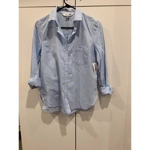 OLD NAVY women's blue button down shirt. size sp